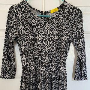 Black and white pattern dress